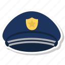 hat, police icon