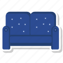 chair, home, room, sofa icon