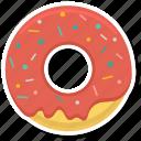 bakery, cake, caramell, dessert, donut, food icon