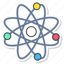 atom, chemistry, physic, physics, proton, science icon