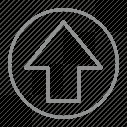 arrow, north, up, upload icon