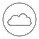 cloud, sky, storage, weather icon