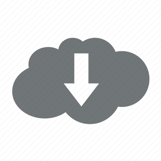 arrow, cloud, data, down, download, server, storage icon