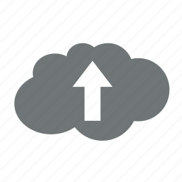 arrow, cloud, data, extract, server, storage, up, upload icon