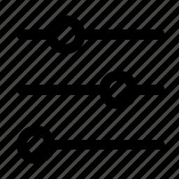 adjust, equalizer, filter, settings, sort icon