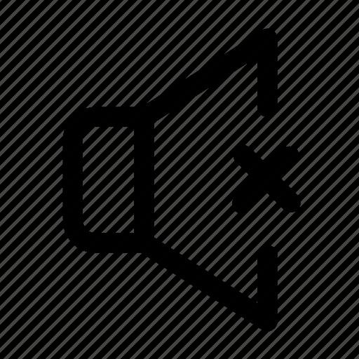 audio, mute, silent, speaker, volume icon