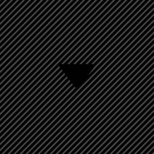 arrow, direction, down, dropdown icon