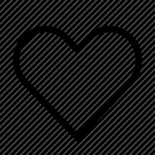 heart, like, love, romance icon