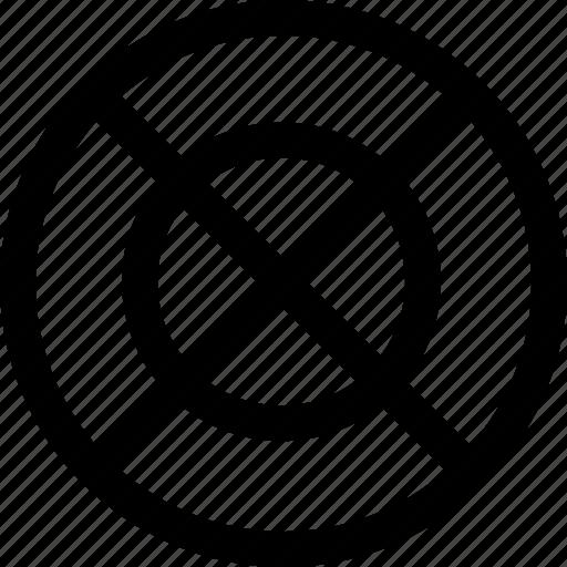 cross, delete, denied, no access, target icon