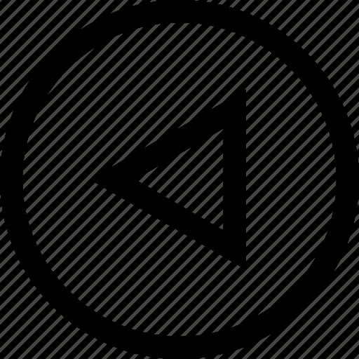 arrow, back, left, pointer, rewind icon