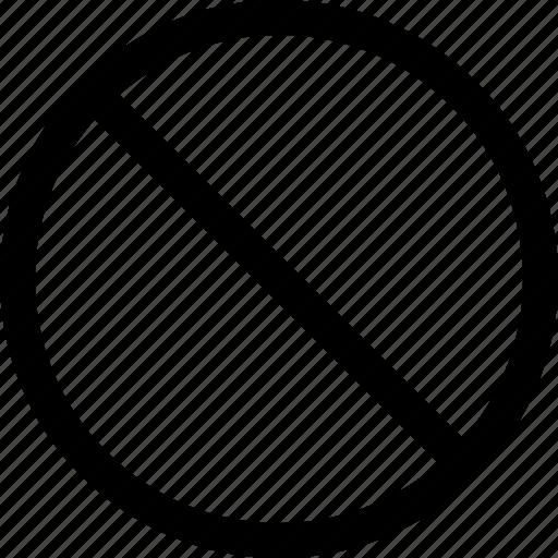 access, denied, menu, nav, no, stop icon