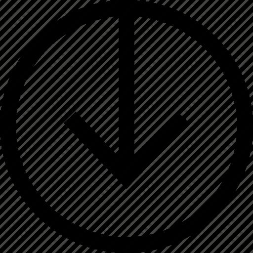 archive, arrow, download, file icon