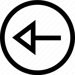 arrow, left, menu, previous icon