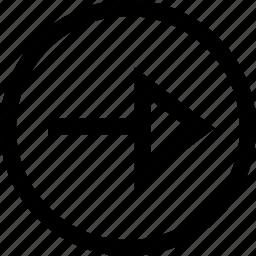 arrow, menu, next, right icon