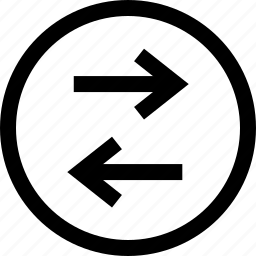 arrow, data, left, menu, right icon