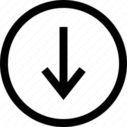 arrow, donwload, down, menu icon