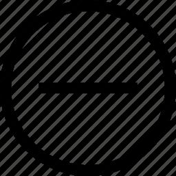 line, menu, negative, neutral icon