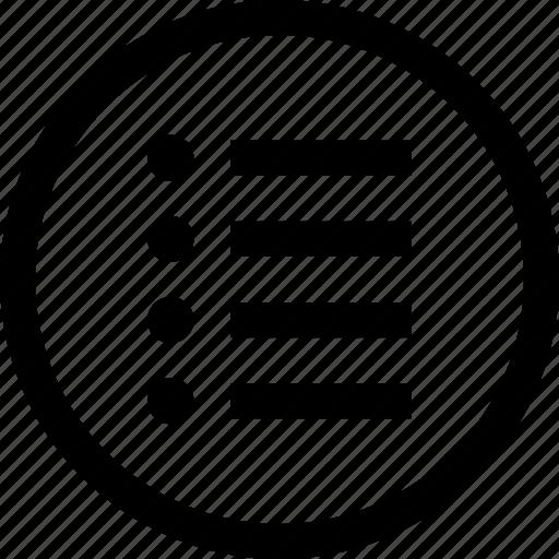 html, list, menu, options icon
