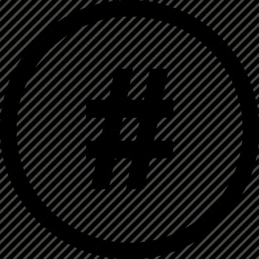 dial, menu, pound, sign icon
