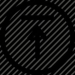 arrow, menu, up, upload icon