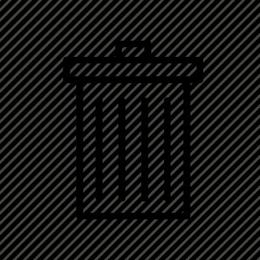 bin, cancel, delete, remove, trash, waste icon