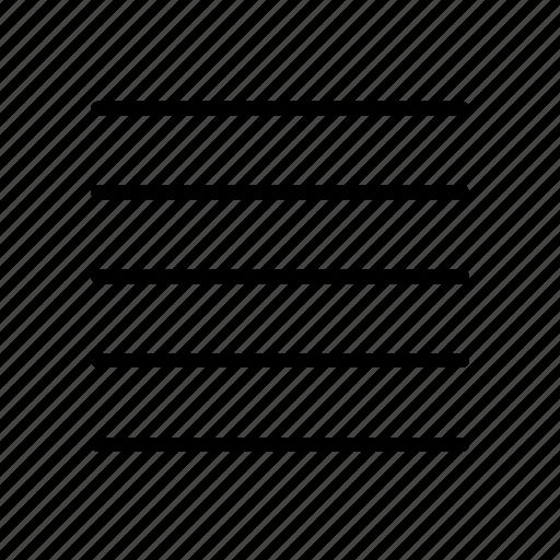 align, lines, list, menu, text icon