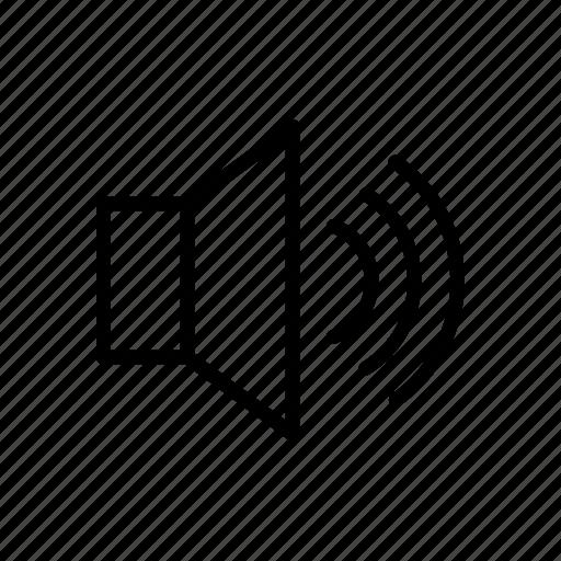 loud, music, on, sound, speaker, speakers icon