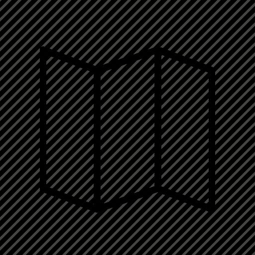 destination, fold, folding, location, map, navigation, orientation icon