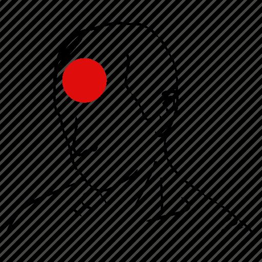 head, health, man, pain, pressure icon