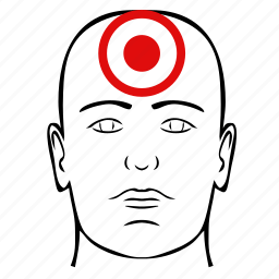 dot, head, illness, man, pain icon