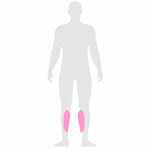 calves, health, human, legs, man, pain icon