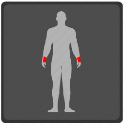 body, hands, man, pain, rain, x icon
