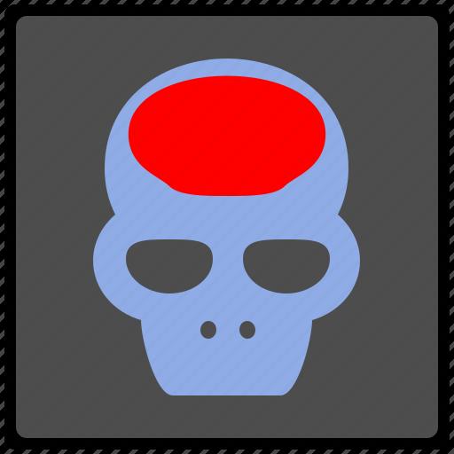 brain, head, headache, pain, ray, skull, x icon
