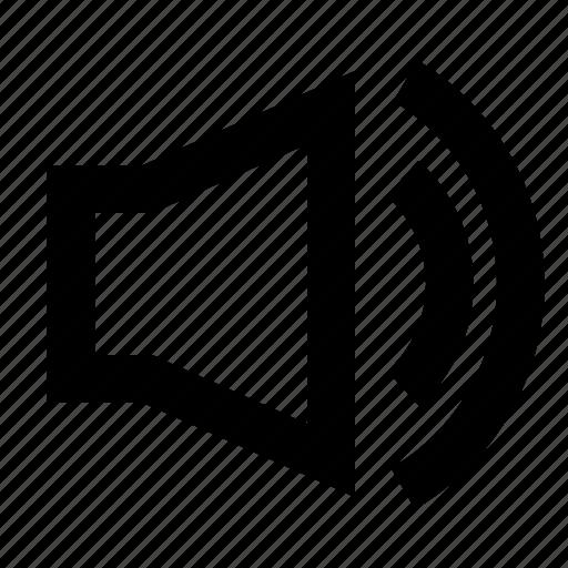 audio, loud, music, on, sound, speaker, volume icon