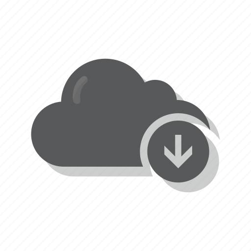 cloud, down, download, import icon
