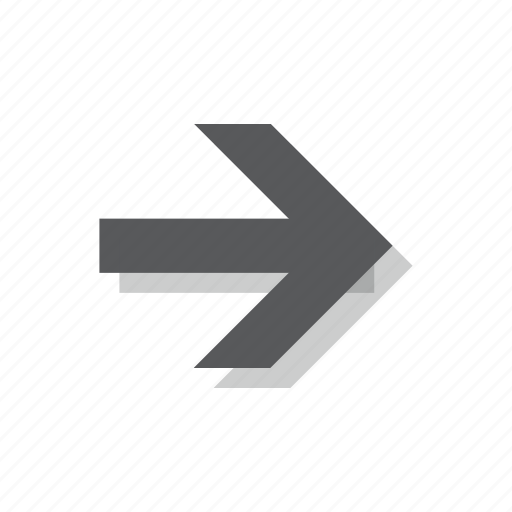 arrow, direction, forward, next, right icon