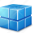 add, blue, box, cube, delete, draw, rss, transparency, transparent icon