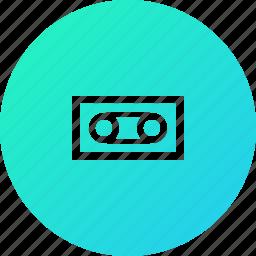 base, recorder, tape icon