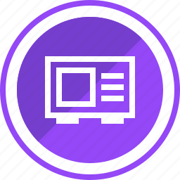 device, electronics, microwave, oven icon