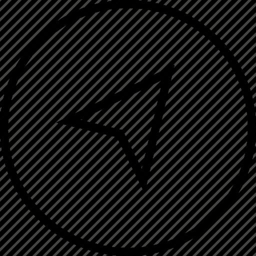 arrow, direction, location, nevigation icon