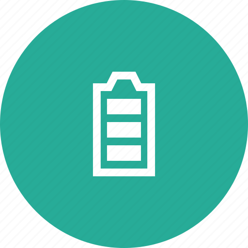 battery, charging, simple, vertical icon