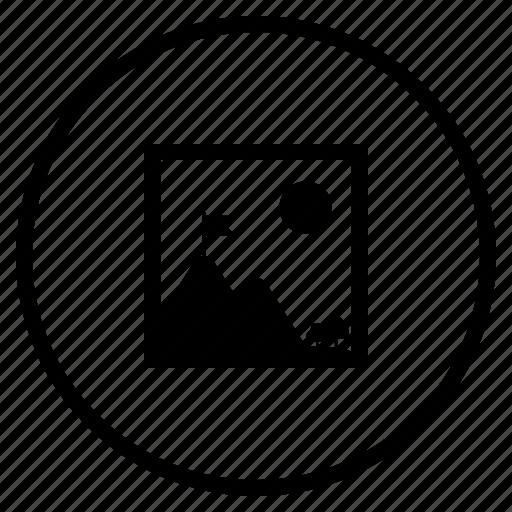 images, photos, storage icon