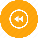 back, media, music, player, video icon