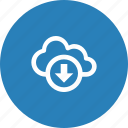 cloud, download, nature, weather icon
