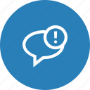 email, mail, message, notice, send, warning icon