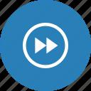 forward, media, music, player, video icon