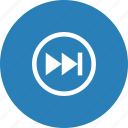 forward, media, music, player, stop, video icon