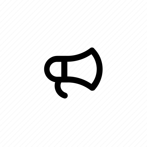 bullhorn, communication, loudspeaker, marketing, megaphone icon
