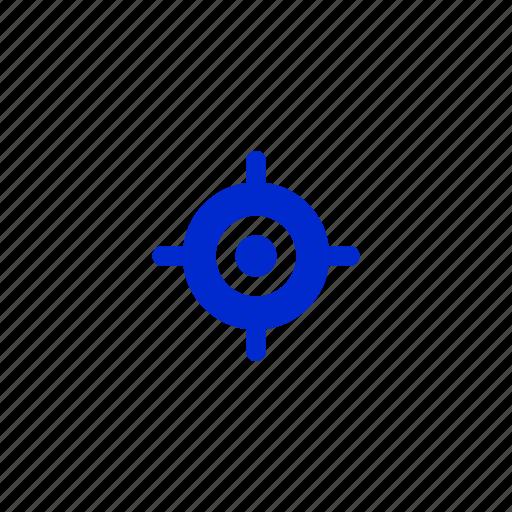 aim, focus, goal, location, success, target icon