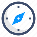 compass, discover, navigation icon